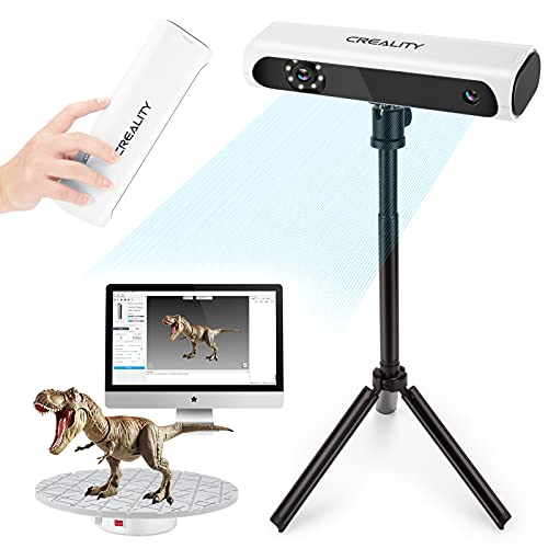 Creality Upgraded CR-Scan01 3D Scanner Kit with Turntable and Tripod, Handheld & Turntable Dual-Mode, 0.1mm Accuracy, No Marker Quick Scanning, Affordable 3D Printer Scanners