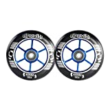 GRAVITI One Pair 100mm Pro Stunt Scooter Wheels with ABEC-9 Bearings CNC Metal...