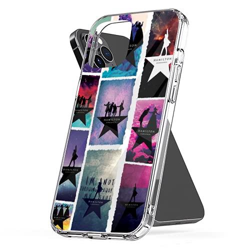 Phone Case Compatible with iPhone Xr 12 7 2020 Se 11 6 8 X Hamilton 6s Logo Plus Collage Xs Pro Max Mini Combine Jumbo Media Mixed Collage Photo
