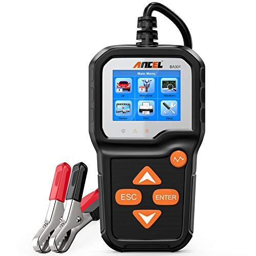 ANCEL BA301 6V 12V Batterieladefunktionstester Auto-Lichtmaschinen-Analysator Testwerkzeug für defekte Ladesysteme für Motorrad, Auto, Boots, kleine LKW und mehr