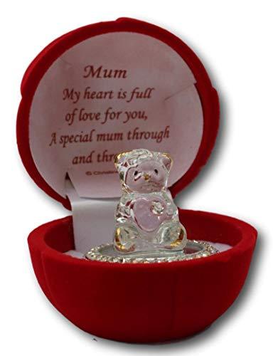 Oso de Cristal en Caja de Regalo para una Madre Especial a...