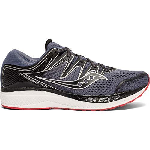 Saucony Men's Hurricane ISO 5 Running Shoe, Grey/Black, 11 M US