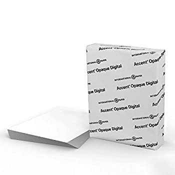 """Accent Opaque White 8.5"""" x 11"""" Cardstock Paper 120 Lb 325 GSM – 150 Sheets  1 Ream  – Premium Smooth Extremely Heavy Cardstock Printer Paper for Invitations Cards Menus Business Cards – 188179R"""