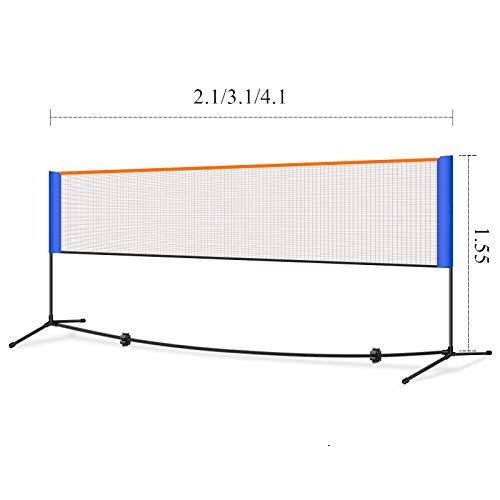 WANGXL Badminton-Netz-Set, Tragbar Einfach, Tennis-Volleyball-Netz, Kinder-Volleyball FüR Garten Schulhof Hinterhof 2,1 M / 3,1 M / 4,1 M * 1,55 M
