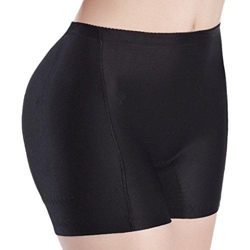 Aivtalk Mujer Bragas Braguitas Moldeadoras con Relleno Embellecer Cadera Calzones Lucir Palmito Briefs Hip Enhancer - Negro Talla XXXL