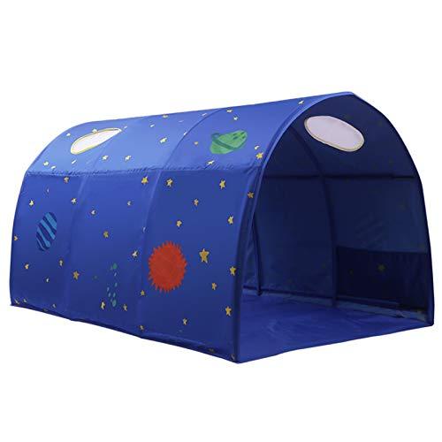 LJJOO Tienda de Cama portátil Tienda para niños Tienda de campaña Separación Separación Cama Artefacto Túnel Boy Play Casa Cama Cama Casa Princesa Cama Cortina Play Casa ( Color : Sky Star )