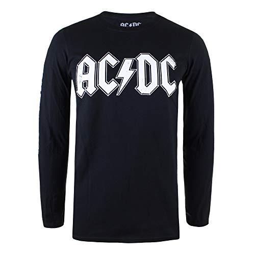 AC/DC Back In Camisa Manga Larga, Negro (Black Blk), Medium (Talla del Fabr...