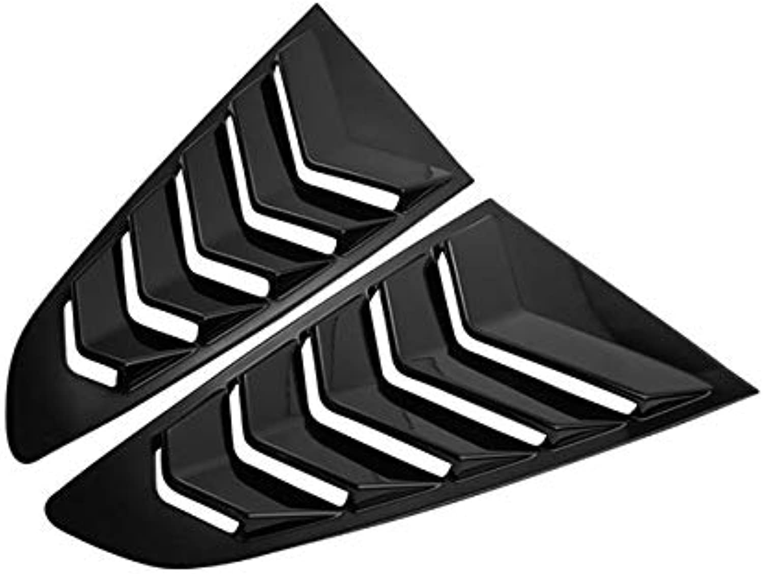 ABS Side Vent Sticker Window Louvers Scoop Cover Car Tuning for Mustang 2pcs  (color Name  3)