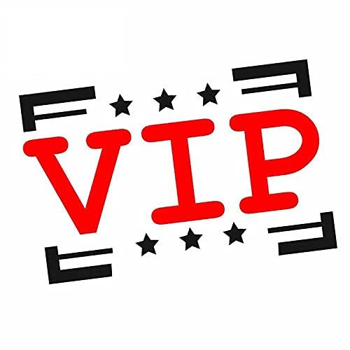 BLKUOPAR Pegatina de coche VIP de 5.1 pulgadas, impermeable, resistente a los arañazos, tabla de surf, tronco, vinilo para decoración de motocicleta