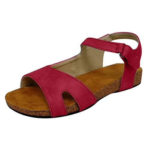 Wyxhkj Sandalias Casual Con Tacón Bajo Y Punta Abierta Sandalias Romanas Zapatos De Mujer Tallas Grandes Vintage Sandalias De Fiesta Playa De Verano