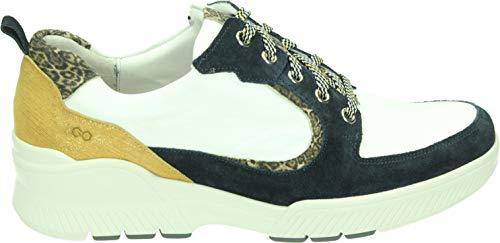 Durea GO Sneakers 6232 685 H Blauw Wit Taupe Oker
