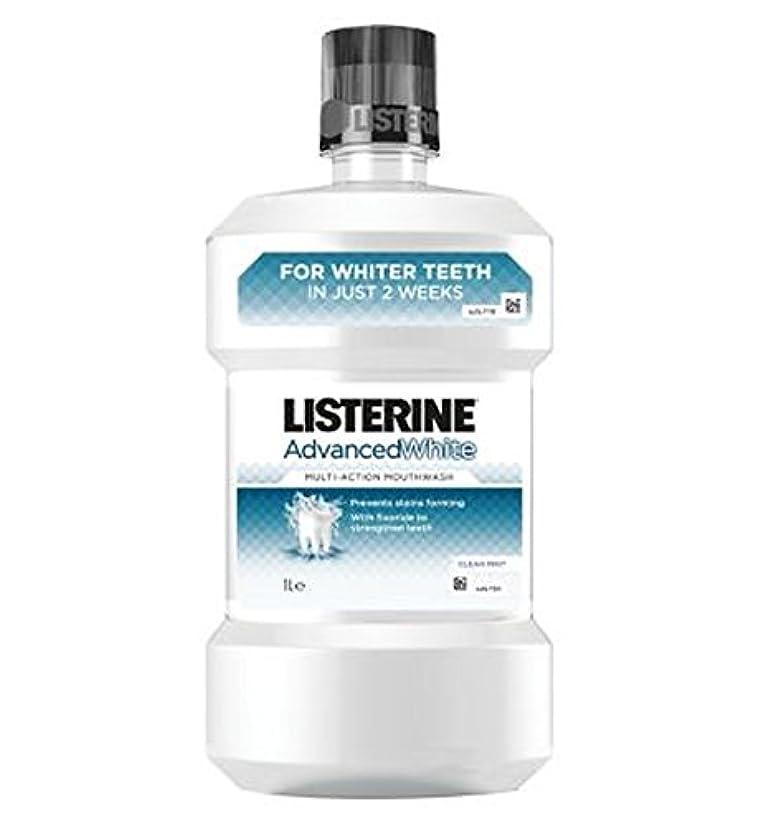 重荷悲しいことに説教Listerine Advanced White Mouthwash - 1000ml - リステリンは白いマウスウォッシュを進めた - 千ミリリットル (Listerine) [並行輸入品]