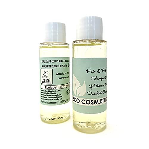Eco Cosm.Ethic – ShampooDoccia Ecologico in tubo, 32 ml, Certificazione EU Ecolabel, Profumazione Agrumata, Linea cortesia ecologica per Hotel e B&B - 298 pz-