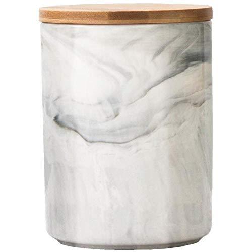 ZJJJD 1 Stück Kreatives, Einfaches, Versiegeltes Keramik-vorratsglas, Gewürzglas Mit Holzdeckel, Kaffeebohnen, Kaffeebohnen, Tee, Nudeln, Süßigkeiten, Keks, Kaffedose Kaffeedose Kaffeebehälter