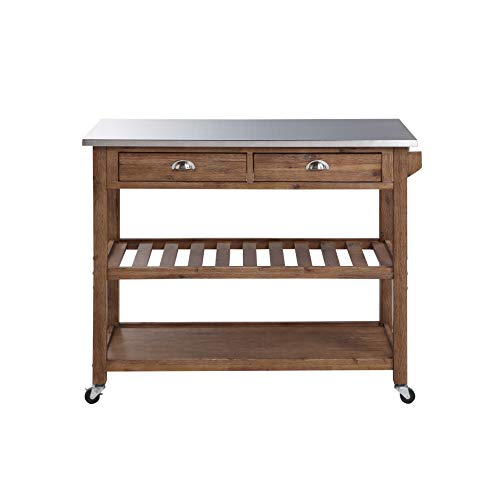 Boraam 98520 Sonoma Kitchen Cart, Barnwood Wire-Brush