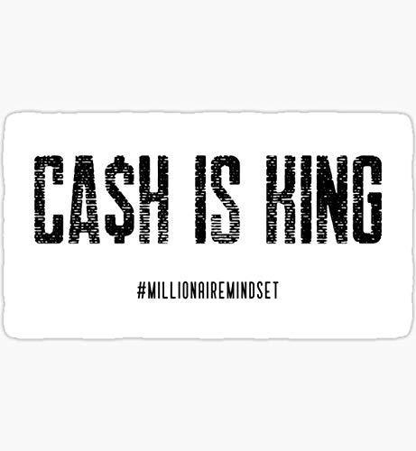 Cash is King Logo - Sticker Graphic - Auto, Wall, Laptop, Cell, Truck Sticker for Windows, Cars, Trucks