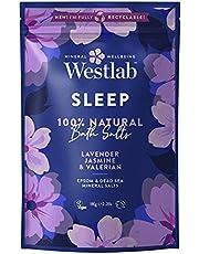 Westlab 's Sleep Epsom & Dead Sea Salts med lavendel och jasmin, 1 kg