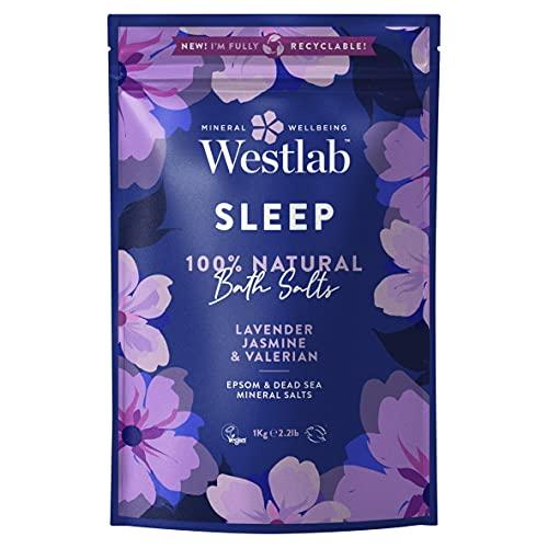 Westlab 's Sleep Epsom & Sales del Mar Muerto con lavanda y jazmín, 1 kg