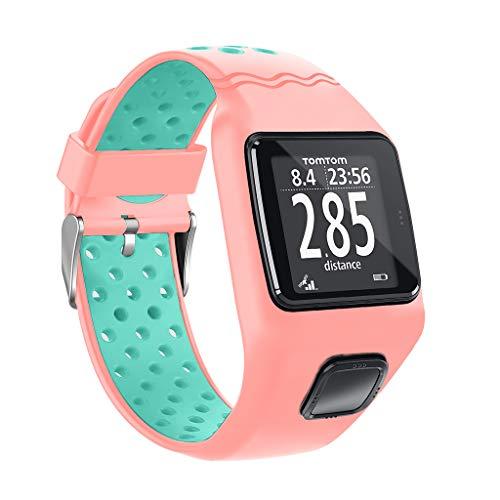 Youbei Stoßfestes Armband Aus Weichem Silikon Armband Armband Ersatz Für 1 Multi-Sport GPS HRM CSS AM Cardio Runner Uhr Zubehör