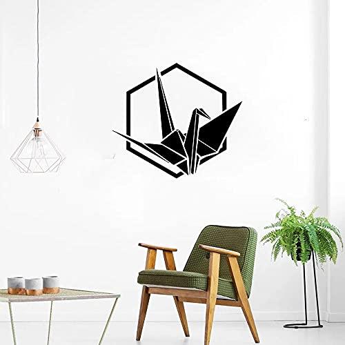 Mil grullas de papel calcomanías de pared origami pájaro figura puertas y ventanas vinilo niños dormitorio oficina decoración de interiores papel tapiz 57 cm x 63 cm