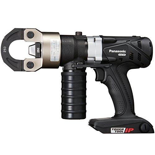 パナソニック 充電圧着器 EZ46A4デュアル(14.4V/18V対応)CV線250mm2圧着 別売アタッチメント使用可能(ケーブル切断・圧縮・打ち抜き) 本体・圧着ダイスセット・ケースのみ(電池パック・充電器別売)ブラック EZ46A4K-B