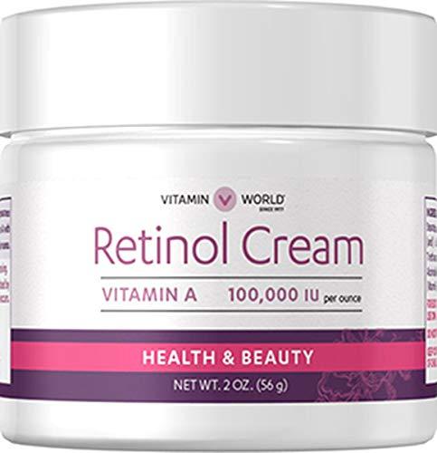 Vitamin World Retinol Cream, 2 oz, A 100,000 IU per oz