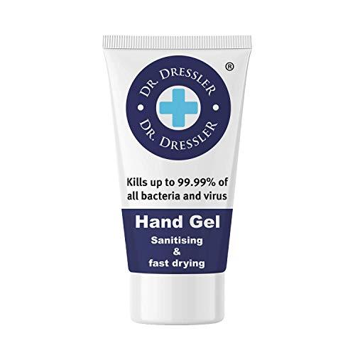 50 ml Dr Dressler Hand Gel - Sanitising & Fast Drying - Kills up to 99.99% of All Bacteria and Virus (1)