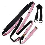 ZNMUCgs Hamaca de yoga, cinturón elástico, cuerda de yoga, artefacto de flexión de cintura inferior para el hogar, color rosa