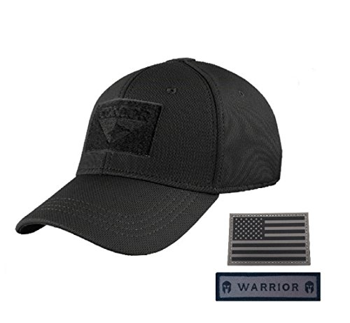 Condor Flex Tactical Cap (Black, L/XL) Bundled with...