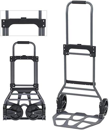 Carro Carro para Sacos, Camión y Carro, Carro Ajustable Portátil para Equipaje de Trabajo Pesado Carro para Equipaje Tienda Personal Aluminio 130 kg
