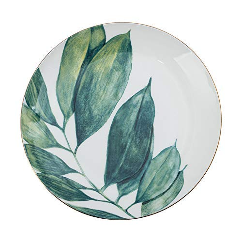KANJJ-YU Phnom Plato Plato de 8 pulgadas Hogar Desayuno Vajilla Simple Bone China Placa creativa Placa de cerámica Azul 20cm Cocina