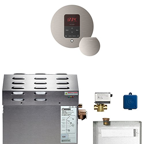 Amazing Deal 6kW Steam Bath Generator with MSButler1RD Package in Brushed Nickel
