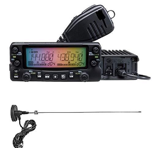 モービル機 DR-735D 20W 無線機 144/430Mhz アマチュア無線トランシーバーセット (マグネットケーブルアンテナ付き)