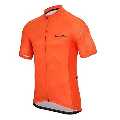 Uglyfrog Bike-T Full Zip Radsport Trikots Herren Rennrad Cyling Top T-Shirt Basic Sport Freizeit HDZD31