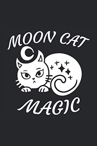 moon cat magic finished 2: A Lined Notebook for Students with Witchy and Gothic Vibes