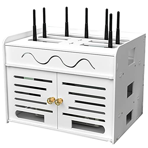 Router rack Caja Organizadora Oculta De Enrutador WiFi Estante De Enrutador WiFi Inalámbrico Caja De Almacenamiento De Enrutador Montado En La Pared Caja De Oclusión De Enchufe De Fila Inferior De TV