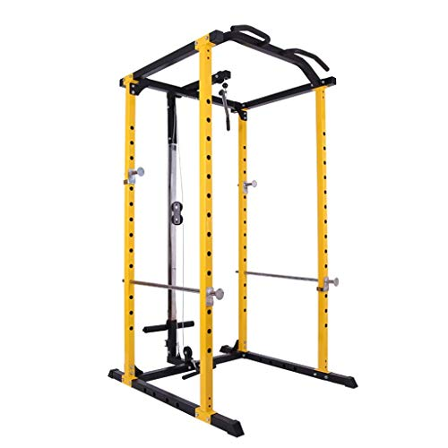 DSHUJC Squat rack Weight Lifting Cage Squat Rack Multifunctional Household Box Power Cages Strength Training Pull-up Fitness Weight Lifting Cage Strength Training