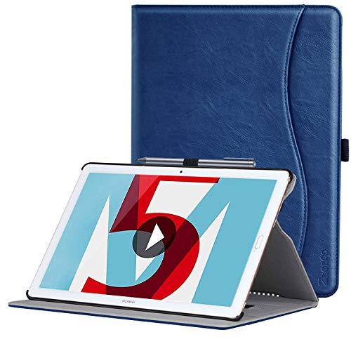 ZtotopHülle Hülle für Huawei MediaPad M5 /M5 Pro 10.8 Zoll 2018, Premium Kunstleder Leichte Hülle mit Auto Schlaf/Wach Funktion & Pen Halter, für Huawei MediaPad M5 10.8 Zoll 2018 Modell,Navy blau
