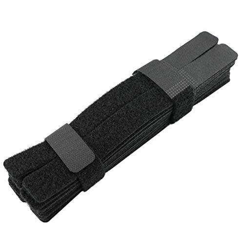 Cable Ties 50pcs Cable Management Reusable Fastening Cable Ties Cable Straps Cable Organizer Wire Organizer Cord Organizer 7 Inch (Black)