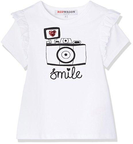 Marca Amazon - RED WAGON Camiseta con Estampado y Volantes para Niñas