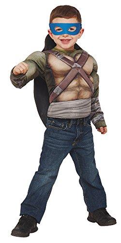 Disfraz de Tortuga Ninja para niños, Pecho musculoso en caja, infantil 5-6 años (Rubie's 31895)
