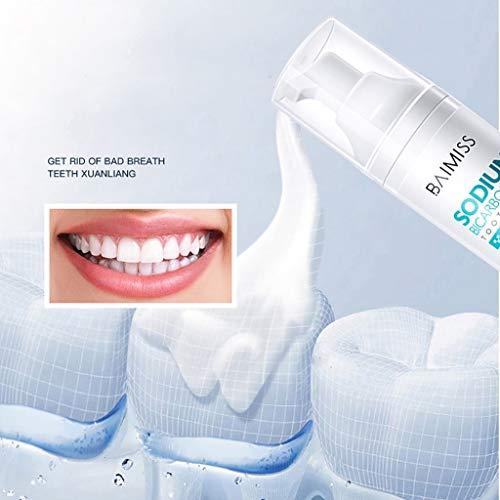 Luccase Weiß Schaum Zahnaufhellung Zahnpasta Fruchtiges Aroma Reinigung Mousse Zahnpasta Mundhygiene Entfernt Plaque Flecken für Alle Menschen, 1 Stücke