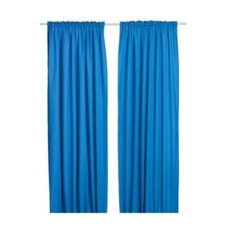 Ikea Vivan Pair of Curtains, Drapes, 2 Panels (Dark Blue)