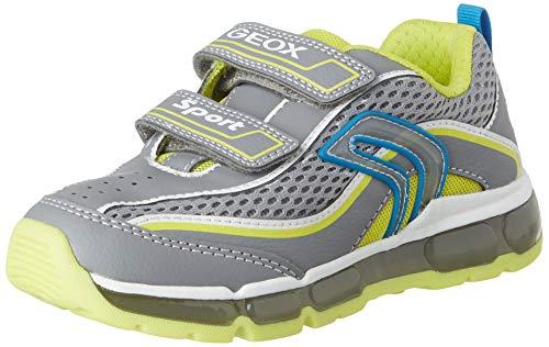 Geox Jungen J Android Boy C Sneaker, Grau (Grey/Lime C0666), 31 EU