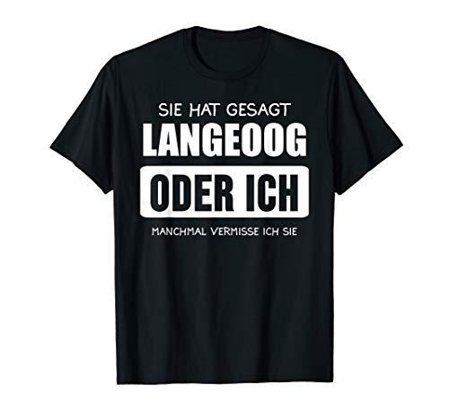 Herren Langeoog Nordsee Ostfriesische Inseln Norddeutsch Geschenk T-Shirt