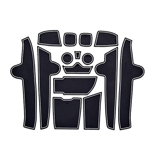 LFOTPP X1 F48 Gummimatten, Gummi Matten Antirutschmatten für Getränkehalter Mittelkonsole Armlehne Türschlitz 15 Stücke Weiß
