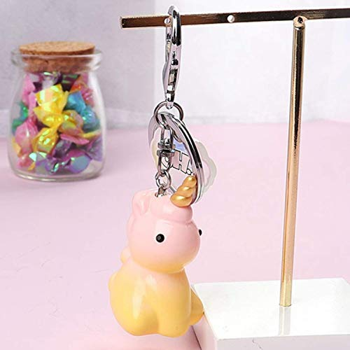 htrdjhrjy seltene Schlüsselanhänger Cartoon Einhorn Schlüsselanhänger Tasche hängend Acces Schlüsselanhänger niedliches modisches Geschenk 1