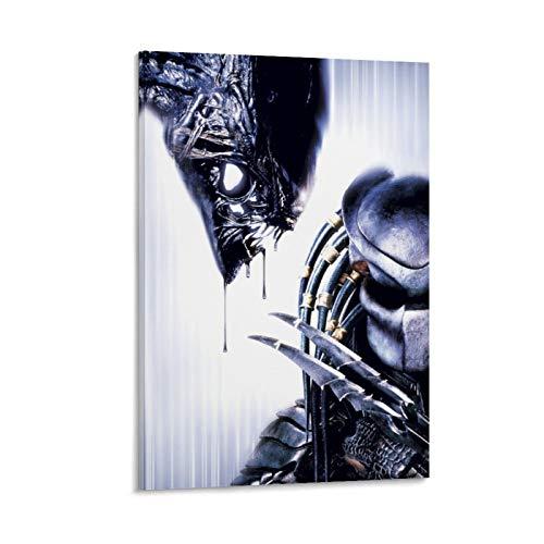 DRAGON VINES AVP - Póster moderno de Alien contra depredador marciano (30 x 45 cm)