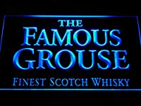 The Famous Grouse Whisky LED看板 ネオンサイン ライト 電飾 広告用標識 W40cm x H30cm ブルー
