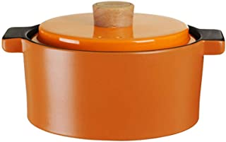 Cookware Terracotta Dutch Oven Casserole Dishes With Lids-Fast Heating, Heat Storage And Energy Saving-Orange_4L